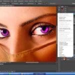 Как быстро поменять цвет глаз в Photoshop Adobe?