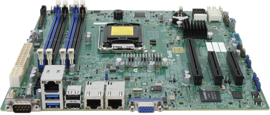Серверная материнская плата Supermicro X10SLM-F